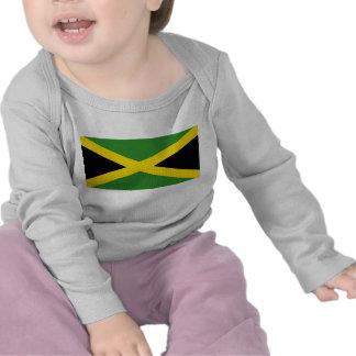 Camiseta del bebé con la bandera de Jamaica