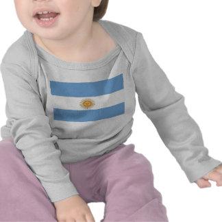 Camiseta del bebé con la bandera de la Argentina