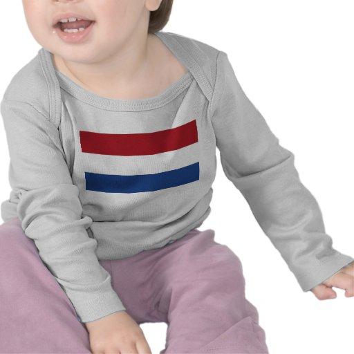 Camiseta del bebé con la bandera de Países Bajos