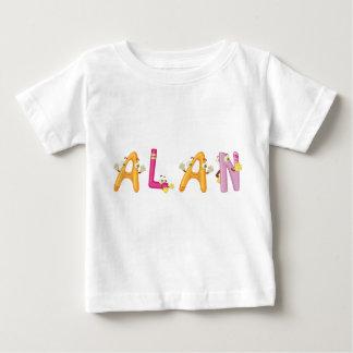 Camiseta del bebé de Alan