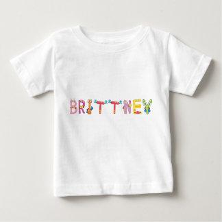 Camiseta del bebé de Brittney