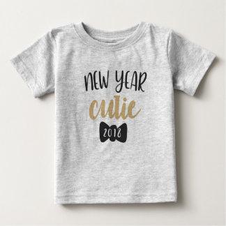 Camiseta del bebé de Cutie del Año Nuevo 2018
