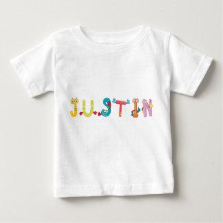 Camiseta del bebé de Justin