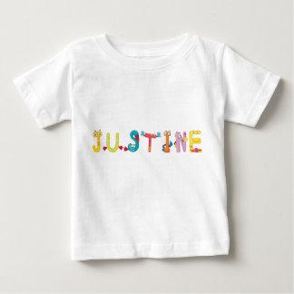 Camiseta del bebé de Justine