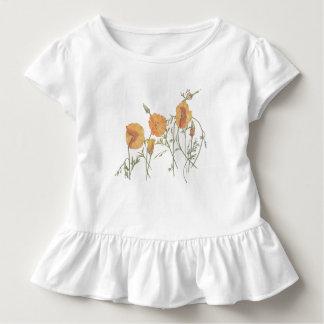 Camiseta del bebé de la amapola de California