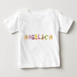 Camiseta del bebé de la angélica