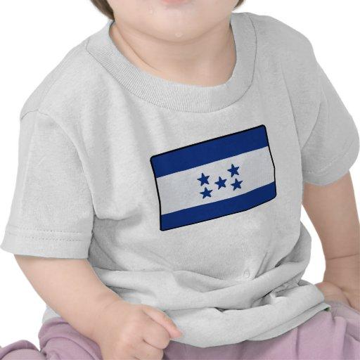 Camiseta del bebé de la bandera de Honduras