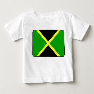 Camiseta del bebé de la bandera de Jamaica