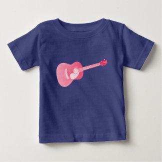 Camiseta del bebé de la guitarra