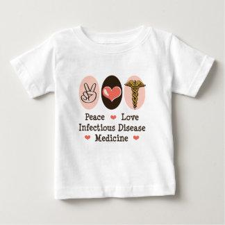 Camiseta del bebé de la medicina de la enfermedad