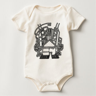 Camiseta del bebé de la música de la casa