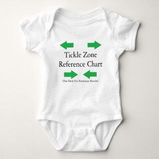 Camiseta del bebé de la zona de las cosquillas