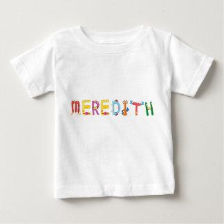 Camiseta del bebé de Meredith