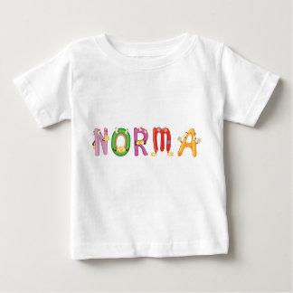 Camiseta del bebé de Norma