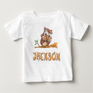 Camiseta del bebé del búho de Jackson
