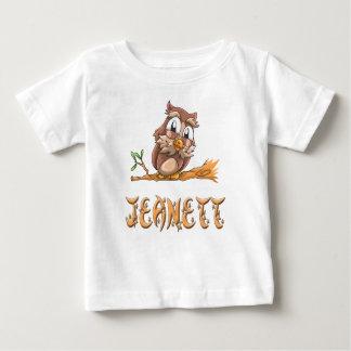 Camiseta del bebé del búho de Jeanett