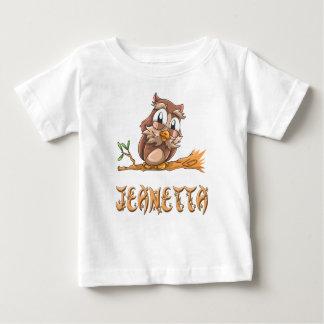 Camiseta del bebé del búho de Jeanetta