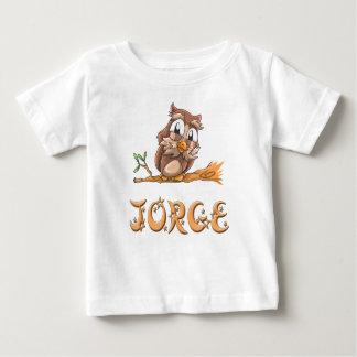 Camiseta del bebé del búho de Jorge