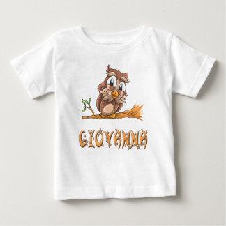 Camiseta del bebé del búho de Juana