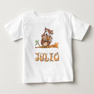 Camiseta del bebé del búho de Julio