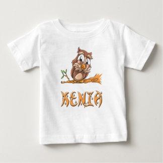 Camiseta del bebé del búho de Kenia