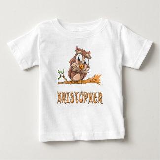 Camiseta del bebé del búho de Kristopher