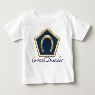Camiseta del bebé del descendiente de Germanna