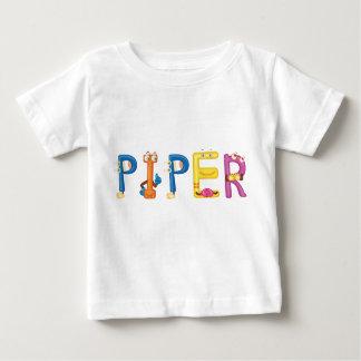 Camiseta del bebé del gaitero