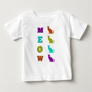 Camiseta del bebé del MAULLIDO de la silueta del