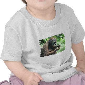 Camiseta del bebé del mono del orangután