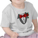Camiseta del bebé/del niño del smoking
