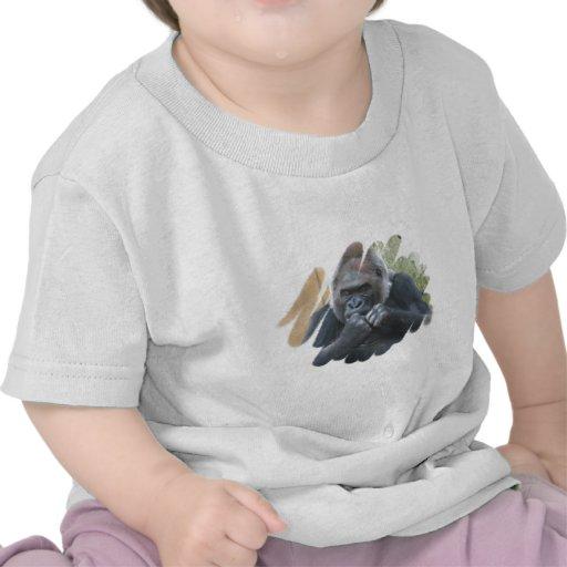 Camiseta del bebé del primate del gorila