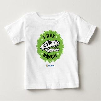 Camiseta del bebé del rancho de T-Rex con el