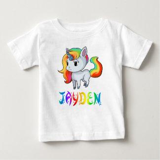 Camiseta del bebé del unicornio de Jayden