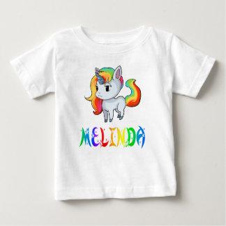 Camiseta del bebé del unicornio de Melinda