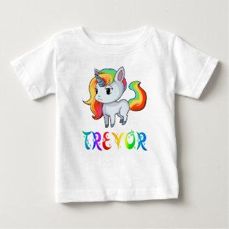 Camiseta del bebé del unicornio de Trevor
