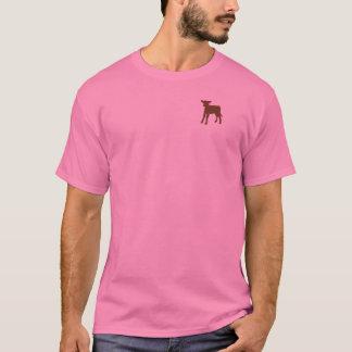 Camiseta del becerro de Brown de las mujeres