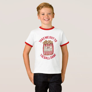 Camiseta del béisbol con el bolso de cacahuetes