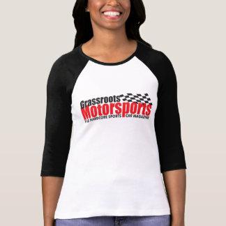 Camiseta del béisbol de las mujeres