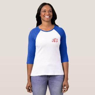 Camiseta del béisbol de las mujeres de la esquina
