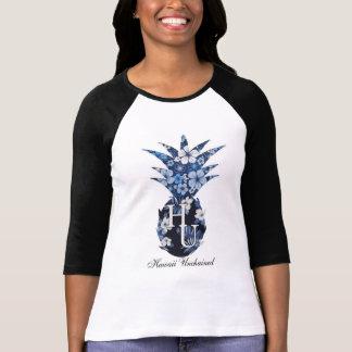 Camiseta del béisbol de las mujeres florales del