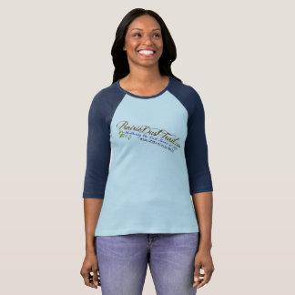 Camiseta del béisbol de las señoras del rastro del