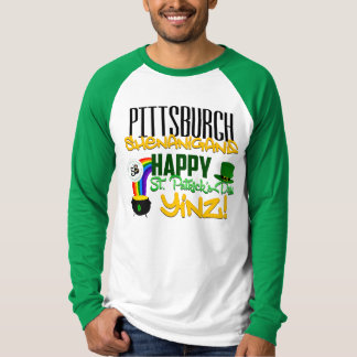Camiseta del béisbol de Yinz del día de St Patrick
