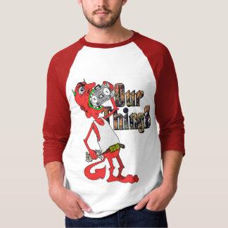 Camiseta del béisbol del diablo rojo de Lil