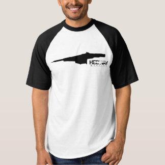 Camiseta del béisbol del negro de la estación de