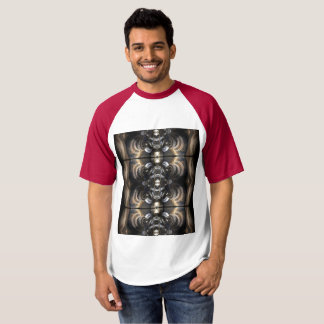 Camiseta del béisbol del raglán de los hombres