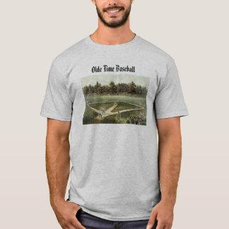Camiseta del béisbol del tiempo de Olde
