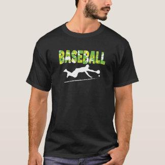 Camiseta del béisbol - juego del salto - amarillos