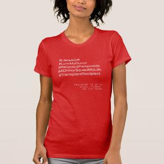 Camiseta del beneficiario del trasplante de
