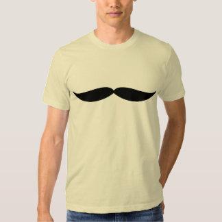Camiseta del bigote (crema)